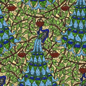 Art Nouveau Peacock  - Mosaic
