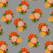 English Bouquet on Grey