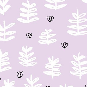 Pop culture series green home garden plants leaves illustration print design violet lavender