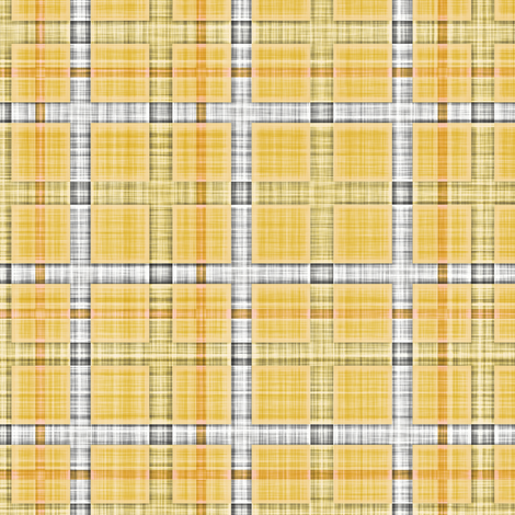 Plaid Check Tartan Grid Stripes Grunge Pencil Scratch Yellow fabric by caja_design on Spoonflower - custom fabric