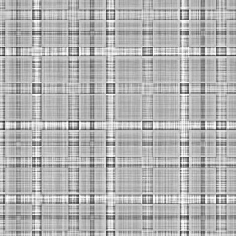 Plaid Check Tartan Grid Stripes Grunge Pencil Scratch Grey fabric by caja_design on Spoonflower - custom fabric