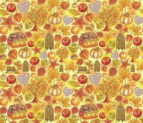 Rustic Fall. Indian summer fabric by alenushka on Spoonflower - custom fabric