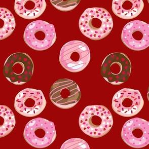 Valentine Donuts // Red