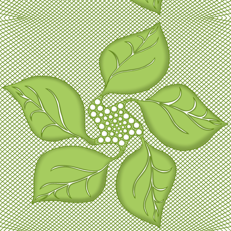Quilted_Leaves on Lattice. fabric by house_of_heasman on Spoonflower - custom fabric