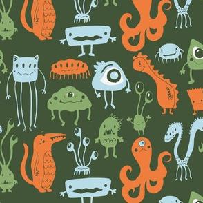 Little Monsters - Green