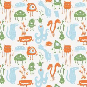 Little Monsters - Cream