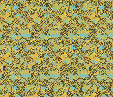 Rustic Fall - Maple Leaves fabric by palusalu on Spoonflower - custom fabric
