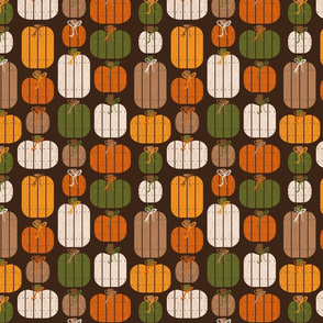 Rustic Wood Pumpkins - Brown
