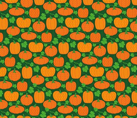 pumpkin bob fabric by katybobsyouraunty on Spoonflower - custom fabric