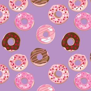 Valentine Donuts // Lavender