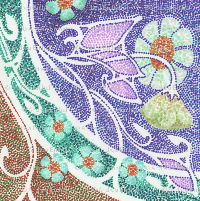 Dotty's Purple Mosaic Garden