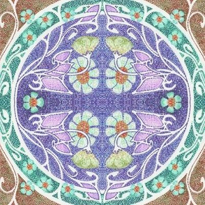 Dotty's Purple Mosaic Garden