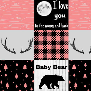 I love you to the moon - coral version