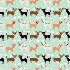 chihuahua dog pastel unicorn fabric cute mint and purple unicorn pegasus dogs