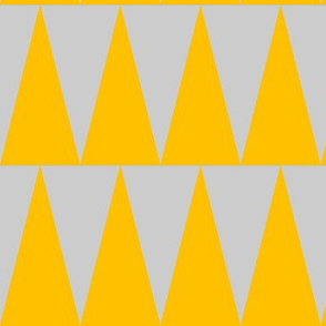 tall triangles mustard yellow grey