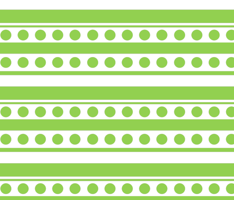 dots and stripes apple green fabric by doloube on Spoonflower - custom fabric