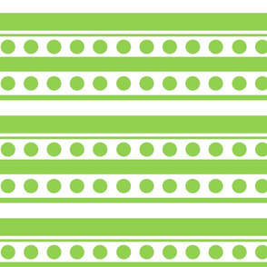 dots and stripes apple green