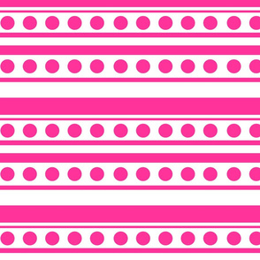 dots and stripes bright pink