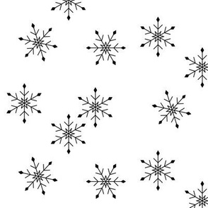 Snowflakes winter christmas - black and white