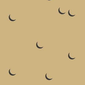 Moon - sand yellow mustard half moon night