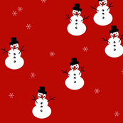 snowman christmas 17 holiday - red