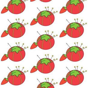 vintage tomato-pin-cushions
