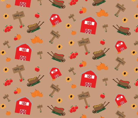 Fall Farm fabric by casey_belle_ on Spoonflower - custom fabric