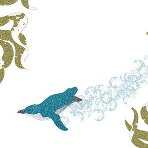 Little Blue Penguins  & Kelp