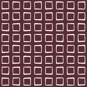 Port Wine Rustic Squares