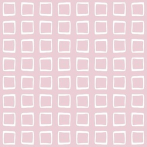 Barely Pink Rustic Squares