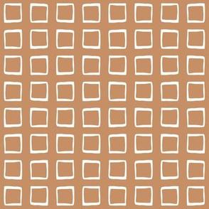 Cool Caramel Rustic Squares