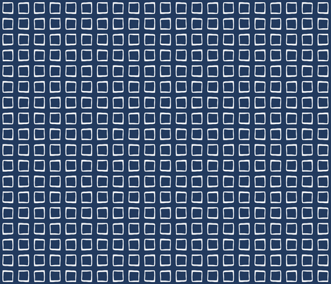 Navy Rustic Squares fabric by lizintn on Spoonflower - custom fabric