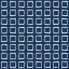 Navy Rustic Squares