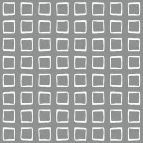 Medium Gray Rustic Squares