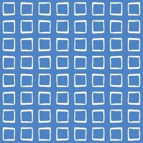 Ocean Blue Rustic Squares