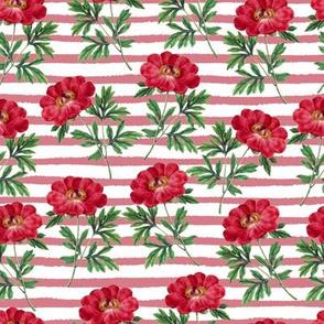 Red Bloom Stripes