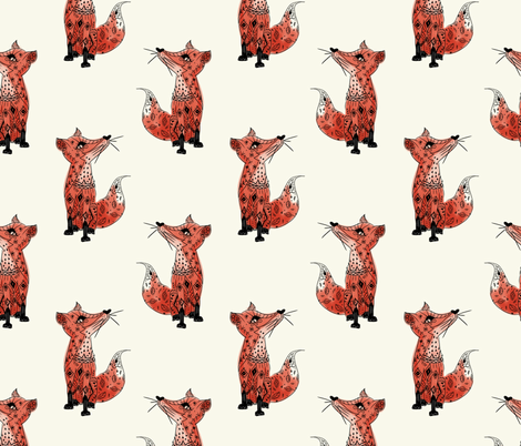 Foxy Foxes fabric by allhaildesign on Spoonflower - custom fabric