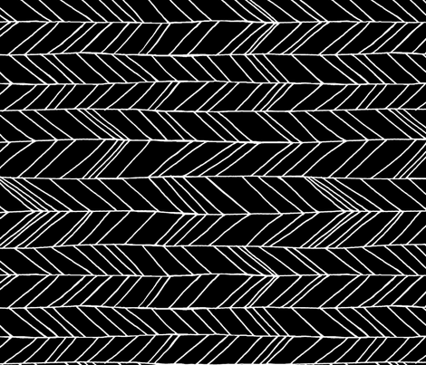 Featherland Black/White LARGE rotated fabric by leanne on Spoonflower - custom fabric