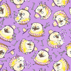 "2"" Baton Twirler pug - purple"