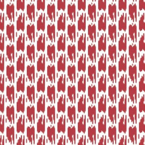 Ikat Red and White