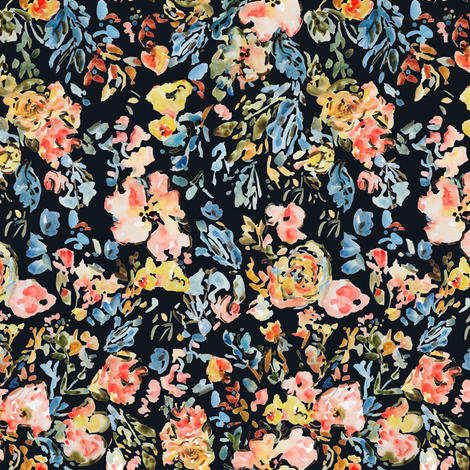 Melba In Midnight fabric by susan_magdangal on Spoonflower - custom fabric