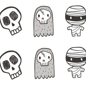 Halloween Plush Skull Plushie Softie Cut & Sew