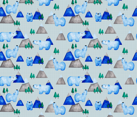 Bears - blue fabric by jenuine_designs on Spoonflower - custom fabric
