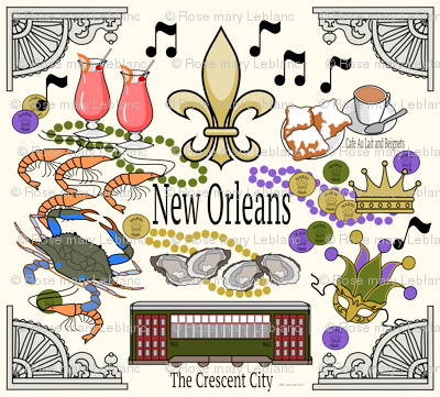 New Orleans Medley in Cream