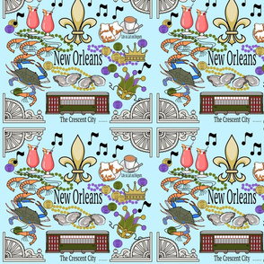 New Orleans Medley in Blue