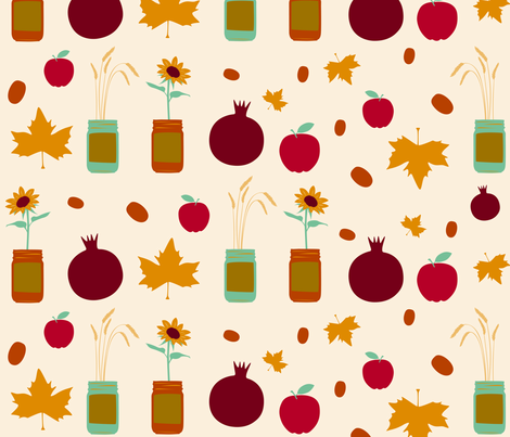 rustic fall fabric by dafnag on Spoonflower - custom fabric
