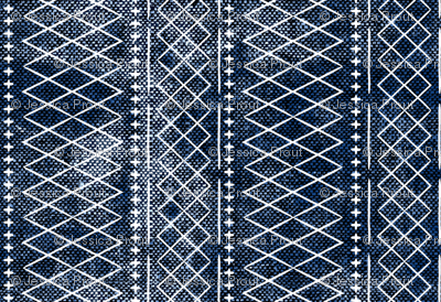 flint vintage moroccan (small scale) on blue