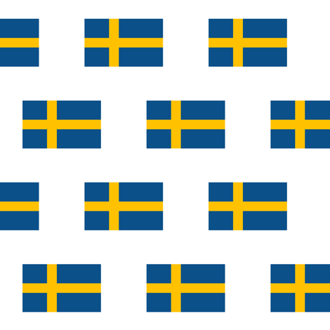 Swedish Flag // Small fabric by thinlinetextiles on Spoonflower - custom fabric
