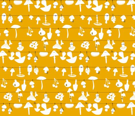 Rustic Fall - to Spring up like Mushroom fabric by grafikimladen on Spoonflower - custom fabric