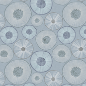 Circle Spokes in Blue